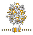 quiz bannerr template with question marks vector image