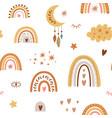 rainbow pattern children boho rainbow pattern vector image vector image