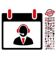 Reception Operator Calendar Day Flat Icon vector image vector image