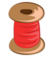 red yarn for knitting or color vector image