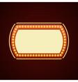 Retro Showtime Sign Design Cinema Signage Light vector image vector image