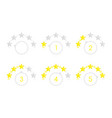 round star rating vector image vector image
