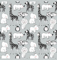 safari animals pattern vector image vector image