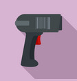 scan pistol icon flat style vector image vector image