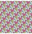 seamless pattern with ice cream in the form vector image