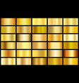 set gold realistic metal texture seamless vector image