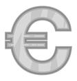 Sign of money euro icon black monochrome style vector image vector image