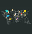 social media abstract network concept abstract vector image