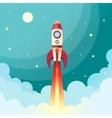 Space rocket print vector image vector image