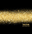 sparkling glitter border on black festive vector image vector image