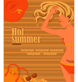 Sunbathing blonde girl background