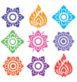 Thai pattern floral mix colorful vector image vector image