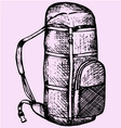 touristic backpack vector image vector image