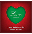 Valentine Day Card Background vector image vector image