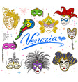 Venice Italy sketch carnival venetian masks Hand vector image vector image