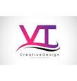 vt v t letter logo design creative icon modern vector image vector image