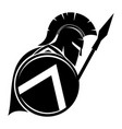 warrior with shield and spear vector image vector image