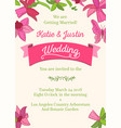 wedding decorative design invitation card vector image