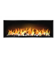 wide firebox with stones inside vector image vector image