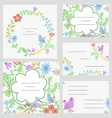 Cute invitation or wedding card vector image