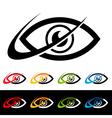 Swoosh Eye Logo Icons vector image