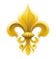 golden fleur-de-lis vector image
