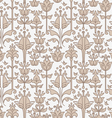 abstract floral seamless pattern with birds vector image