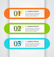 Abstract business infographics template vector image