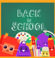back to school banner with vector image vector image