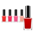 background with red nail polish vector image vector image