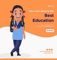 banner design girl education vector image