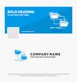 blue business logo template for folder file vector image