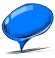 Blue speech bubble cartoon vector image