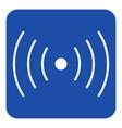 blue white sign - sound vibration symbol icon vector image