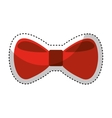 bow tie elegant icon vector image