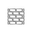 brickwall hand drawn sketch icon vector image