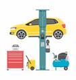 car lifting vector image