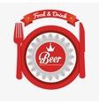 cartoon ice cool beer design design vector image vector image