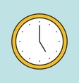 clock filled outline icon vector image vector image