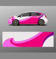 company branding car decal wrap design graphic vector image vector image
