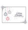 decorative merry christmas beautiful background vector image vector image