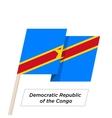 Democratic Republic of the Congo Ribbon Waving
