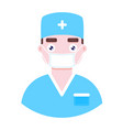 doctor in protective medical mask vector image