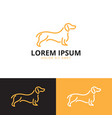 dog logo template vector image vector image