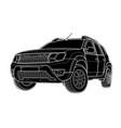 draw of modern car technical draw vector image