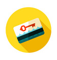 electronic keycard icon summer vacation vector image vector image