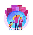 family migration abstract concept vector image vector image