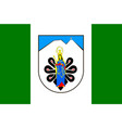 flag of tatra county in lesser voivodeship of vector image vector image