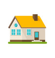 flat house apartment building flat cartoon vector image