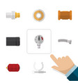 flat icon industry set of industry conduit vector image vector image